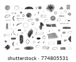 pencil sketches. hand drawn... | Shutterstock .eps vector #774805531