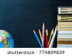 earth model  pencils and earth... | Shutterstock . vector #774809839