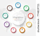 infographic design elements for ... | Shutterstock .eps vector #774819721
