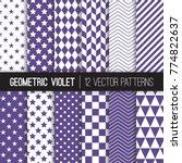 Ultra Violet Geometric Vector...