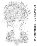 fabulous girl with summer... | Shutterstock .eps vector #774824905