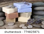 stack of assorted natural soap... | Shutterstock . vector #774825871
