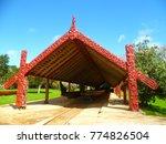 traditional maori canoe house... | Shutterstock . vector #774826504