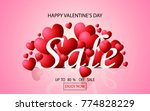 valentines day sale background... | Shutterstock .eps vector #774828229