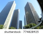tall buildings in shinjuku and... | Shutterstock . vector #774828925