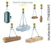 rules for slinging cargo.... | Shutterstock .eps vector #774830095
