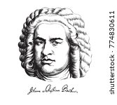 johann sebastian bach. great... | Shutterstock .eps vector #774830611