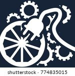 simple flat vector clipart on a ... | Shutterstock .eps vector #774835015
