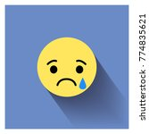 sad face. vector illustration... | Shutterstock .eps vector #774835621