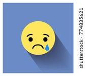 sad face. vector illustration... | Shutterstock .eps vector #774835621