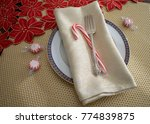 Place Setting With White Plate...