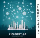 industry 4.0 concept image.... | Shutterstock .eps vector #774842899