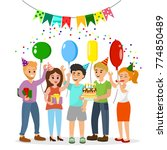 vector illustration happy... | Shutterstock .eps vector #774850489
