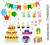 vector illustration birthday... | Shutterstock .eps vector #774850537
