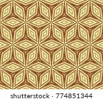stylish geometric background.... | Shutterstock . vector #774851344