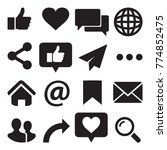 set of internet icons in black. ... | Shutterstock .eps vector #774852475