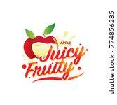 fresh mango juicy fruity sign... | Shutterstock .eps vector #774856285