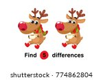 find differences education game ... | Shutterstock .eps vector #774862804