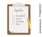 quality check clipboard flat... | Shutterstock .eps vector #774865315