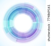 geometric frame from circles ... | Shutterstock .eps vector #774869161