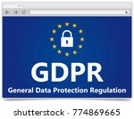 gdpr   european general data... | Shutterstock .eps vector #774869665