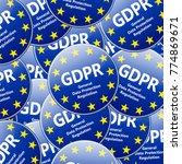 gdpr   european general data... | Shutterstock .eps vector #774869671