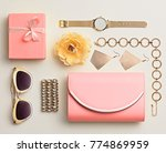 fashion. woman accessories... | Shutterstock . vector #774869959