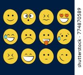 set of smile icons. emoji.... | Shutterstock .eps vector #774870589
