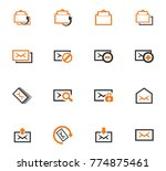 mail vector icons for user... | Shutterstock .eps vector #774875461