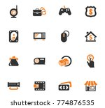 pawn shop vector icons for user ... | Shutterstock .eps vector #774876535