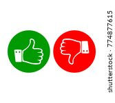thumb up and down icon logo | Shutterstock .eps vector #774877615