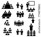 business and person icons set.... | Shutterstock .eps vector #774878881