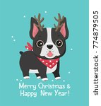 new year's icon of a dog of... | Shutterstock .eps vector #774879505