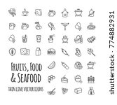 fruits  food and seafood... | Shutterstock .eps vector #774882931