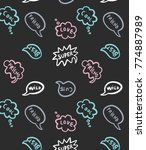 hand drawn pattern and... | Shutterstock .eps vector #774887989