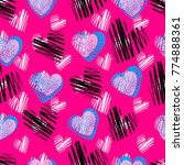 abstract seamless heart pattern ... | Shutterstock .eps vector #774888361