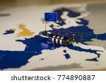 Small photo of Padlock over EU map, symbolizing the EU General Data Protection Regulation or GDPR. Designed to harmonize data privacy laws across Europe.
