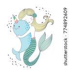 vector illustration of cute... | Shutterstock .eps vector #774892609