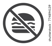 no fastfood glyph icon  fitness ... | Shutterstock .eps vector #774894139