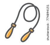 jumping rope filled outline... | Shutterstock .eps vector #774894151
