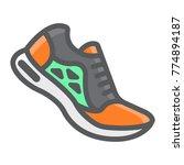 running shoes filled outline... | Shutterstock .eps vector #774894187
