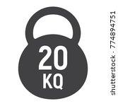 kettlebell glyph icon  fitness... | Shutterstock .eps vector #774894751