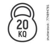 kettlebell line icon  fitness... | Shutterstock .eps vector #774894781