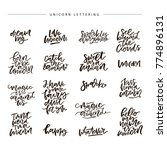 unique handdrawn lettering... | Shutterstock .eps vector #774896131