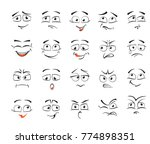 facial expressions for female... | Shutterstock .eps vector #774898351