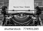 build your brand typed words on ... | Shutterstock . vector #774901285