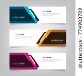 abstract banner design... | Shutterstock .eps vector #774903709