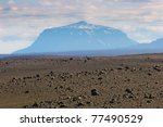 Landscape With Volcano In The...