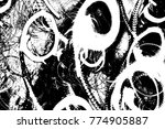 abstract background. monochrome ... | Shutterstock . vector #774905887
