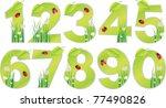 vector eco abc number   Shutterstock .eps vector #77490826